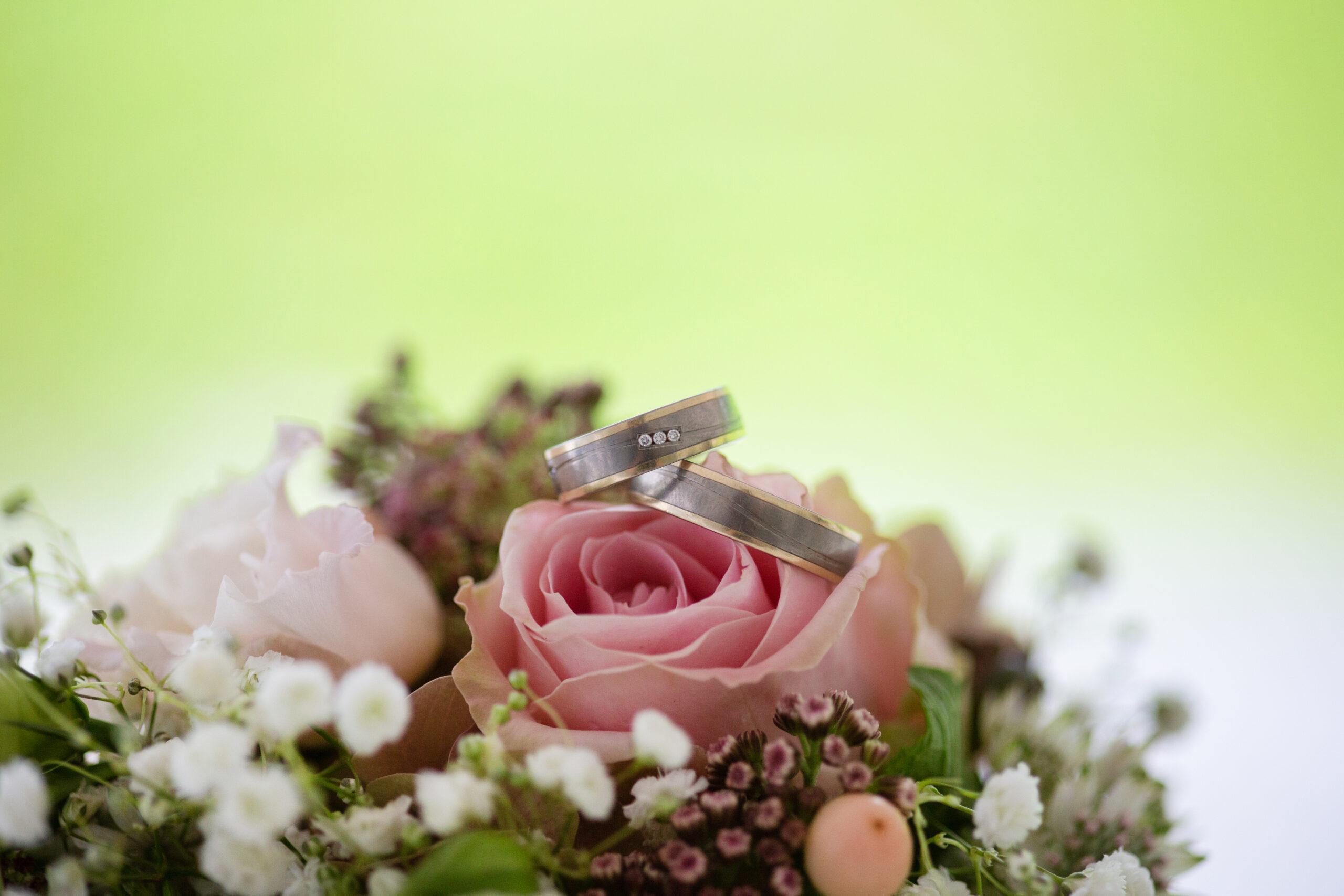 Hochzeit Nahaufnahme der Ringe Seline und Lukas
