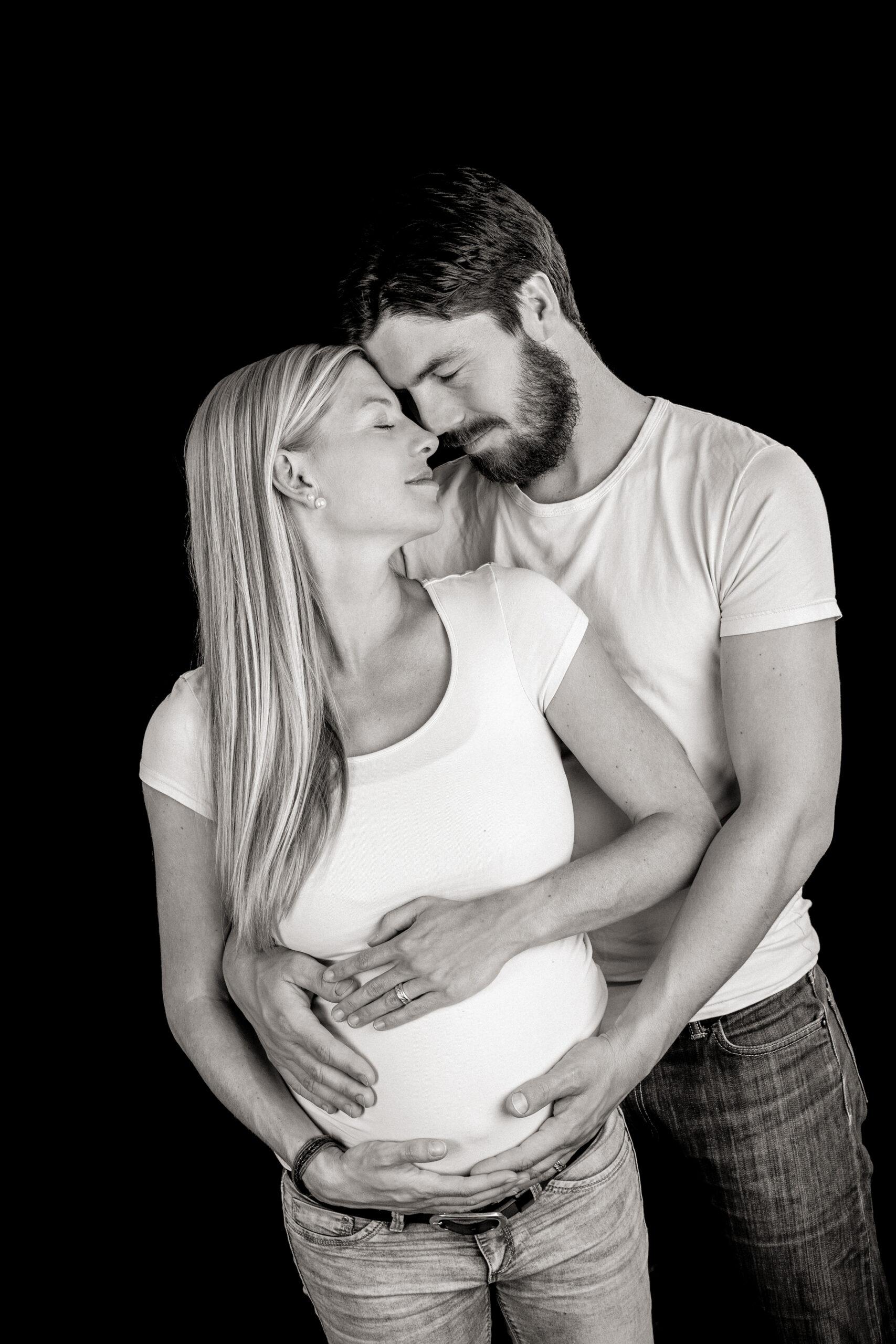 Shadowlight Schwangerschaftsfoto